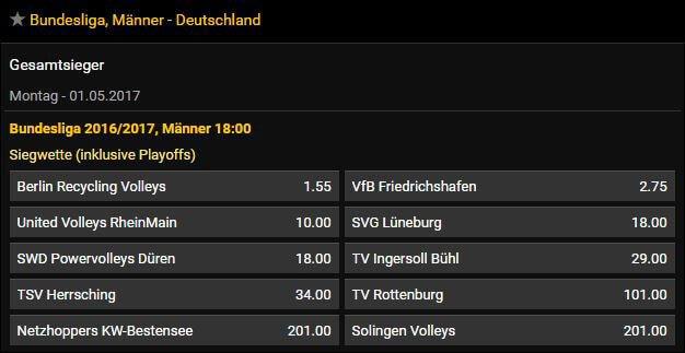 Bwin Langzeitwette Volleyball Deutschland