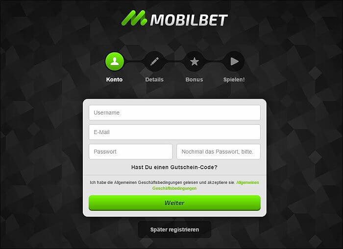 Mobilbet Registrierung
