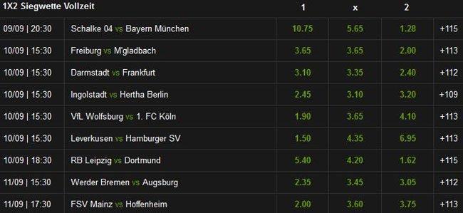 Mobilbet Wettangebot mit Bundesliga Wetten