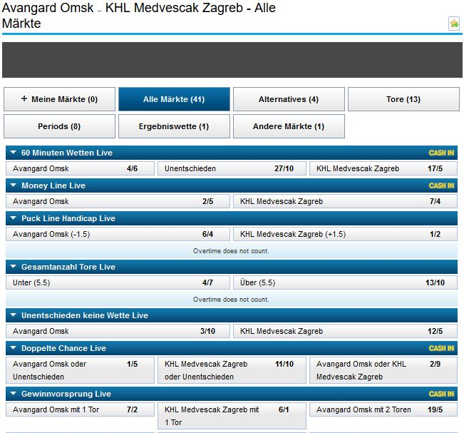 Eishockey Wetten William Hill