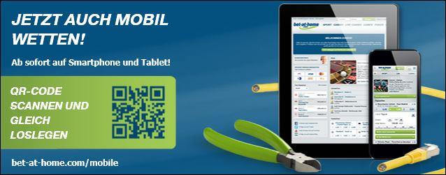 Bet-at-home Wetten für Smartphone und Tablets