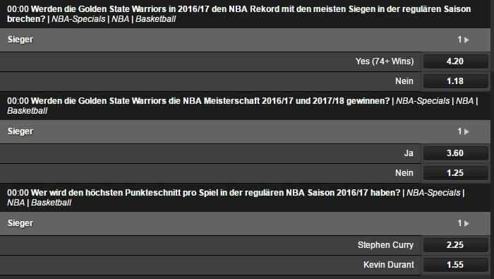 Betsafe NBA Specials im Sportwetten Test