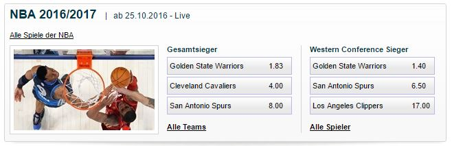 William Hill Basketballwetten Antepost