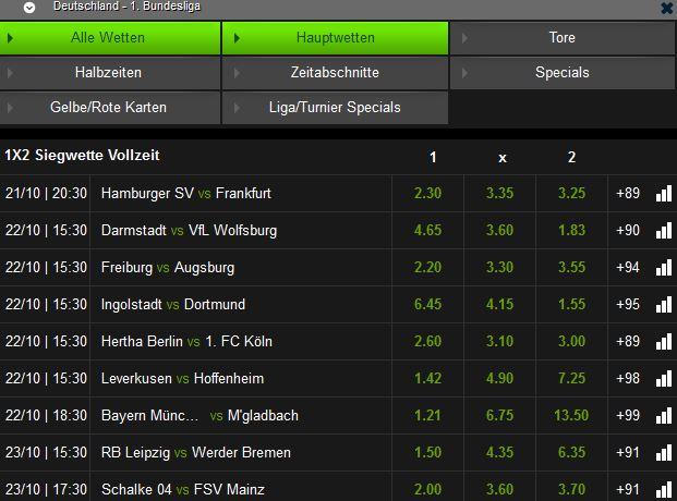 Mobilbet Fußball Bundesliga