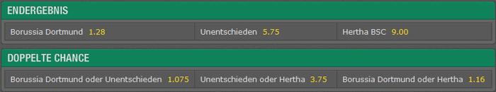 Bet365 Fußball Tendenzwette vs. Doppelte Chance