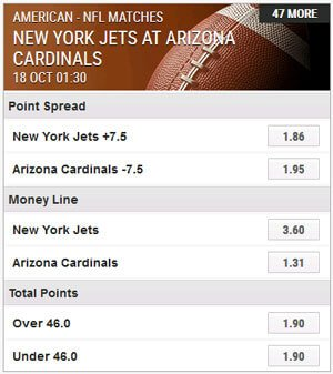 Ladbrokes NFL Hauptwetten Point Spread Money Line Total Points