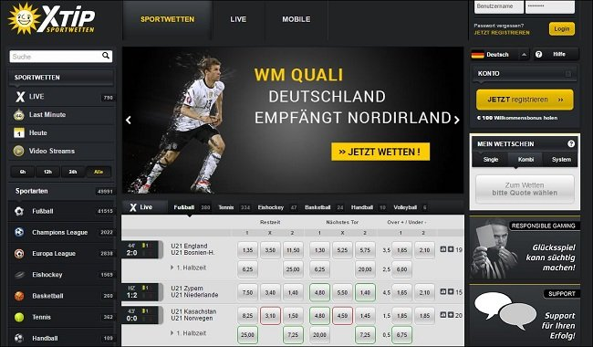 XTip Website im Sportwetten Test