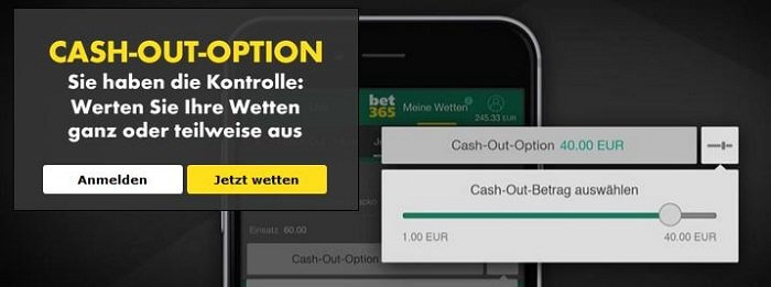 bet365 cash out