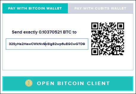 Bitcoin Einzahlungsmaske beim Wettanbieter Kulbet