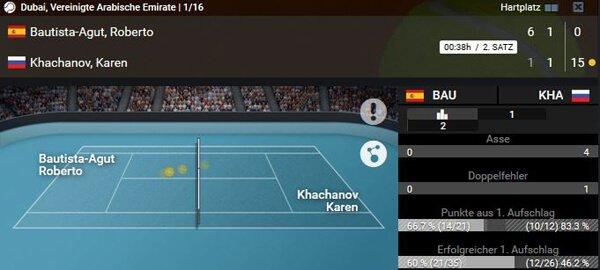 XTip Tennis Wetten Live Ticker