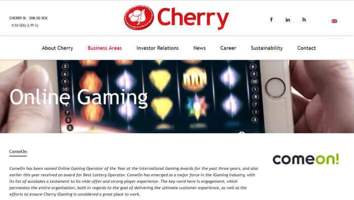 Cherry Konzern Unternehmensseite
