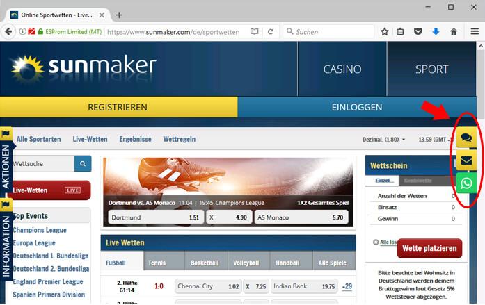 Sunmaker Kundenservice