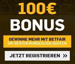 Betfair Neukunden Bonus bis zu 100 Euro in Gratiswetten