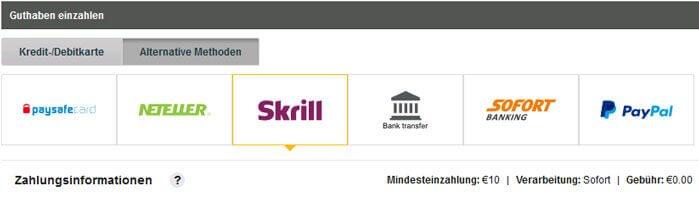 Betfair Einzahlungen Skrill