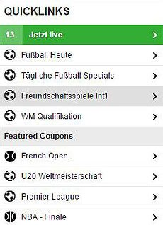 Bild-Betfair-Wettangebot-Quicklinks