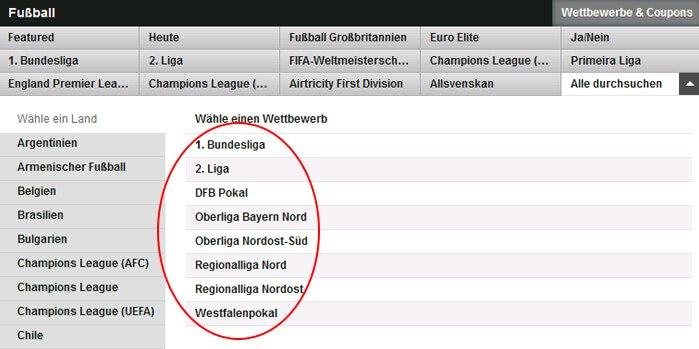 Betfair Fussballwetten Angebot Deutschland