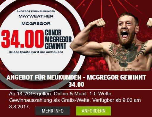 Bei LeoVegas auf Mayweather vs McGregor wetten