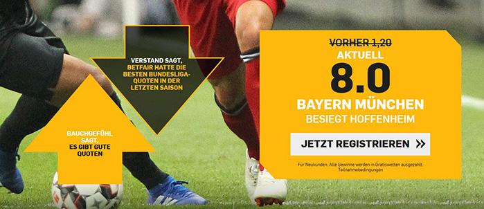 Zur Bayern-Aktion von Betfair