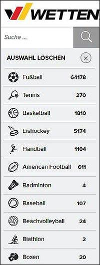 Grafik zu Wetten.com Fussballwetten Auswahl