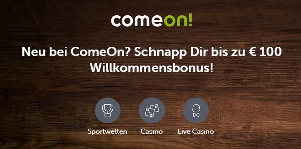 ComeOn Mobile Wetten Bonus