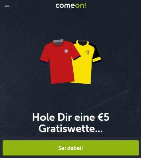 Comeon Gratiswette Bayern BVB
