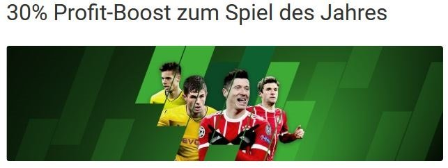 Unibet Profit Boost Bayern Dortmund
