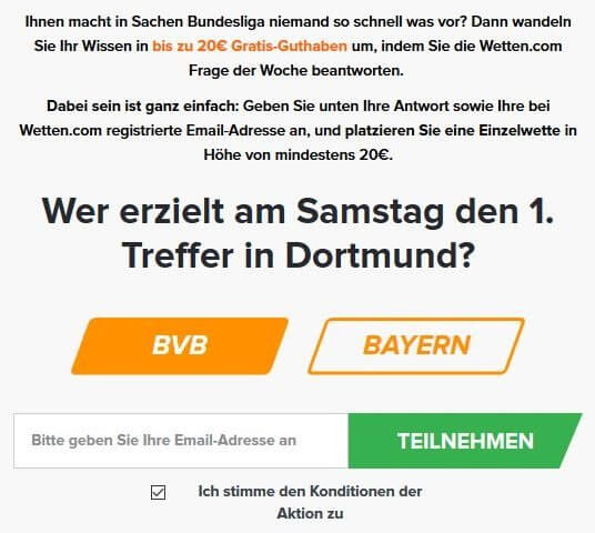 Wetten.com Gewinnspiel