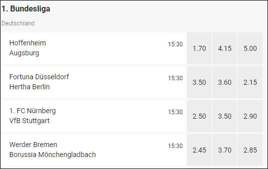 LeoVegas Wettquoten Bundesliga