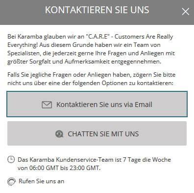 karamba Kundenservice