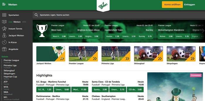 Mr Green Website