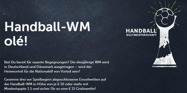 Handball WM Wetten Bonus