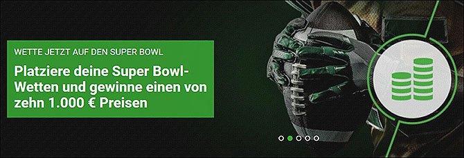 Super Bowl Wetten Jackpot bei Unibet