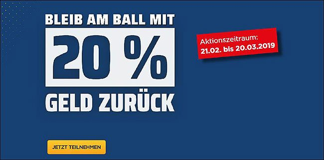 Screenshot zeigt die Bet3000-Cash-Back-Aktion