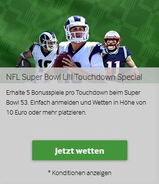 Betway Touchdown Special Super Bowl Bonus