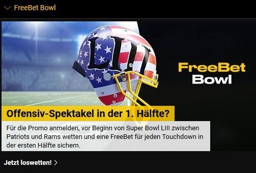 Bwin Super Bowl Freebet