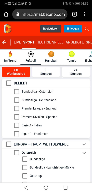 Betano Mobile Fussball Bundesliga