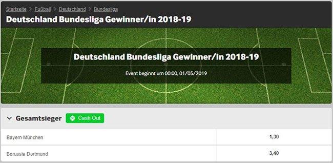 Bundesliga Langzeitwetten Quoten bei Betway