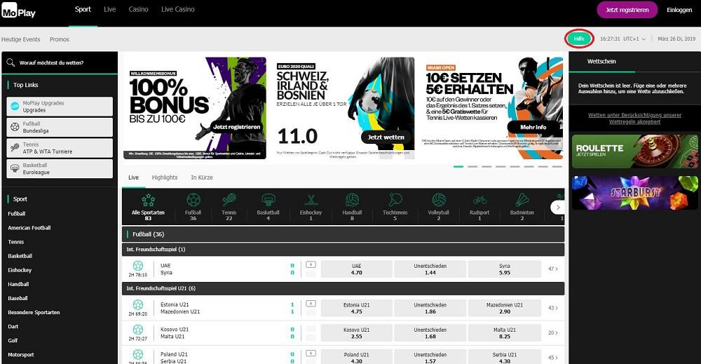 MoPlay-Startseite