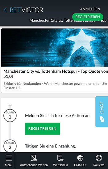 BetVictor Quoten