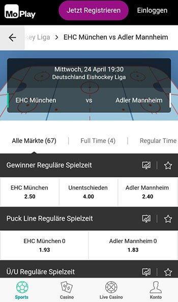 MoPlay Eishockey DEL Wetten