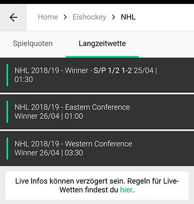 NHL Wetten
