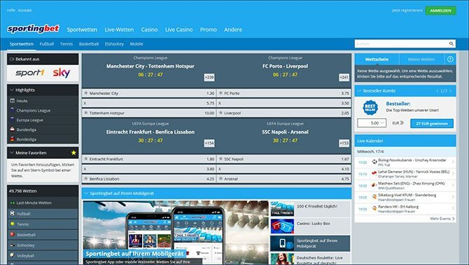 Sportingbet Desktop Version