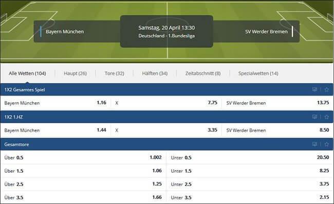 Sunmaker Spezialwetten Bundesliga