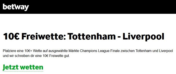 Champions league Wetten Betway