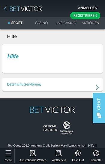 BetVictor Kundenservice
