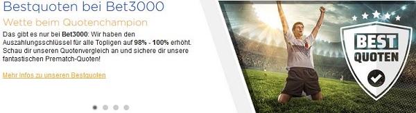 Bet3000 Bestquoten Wettanbieter Österreich