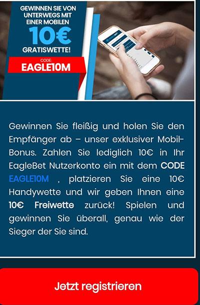 EagleBet Mobil-Bonus
