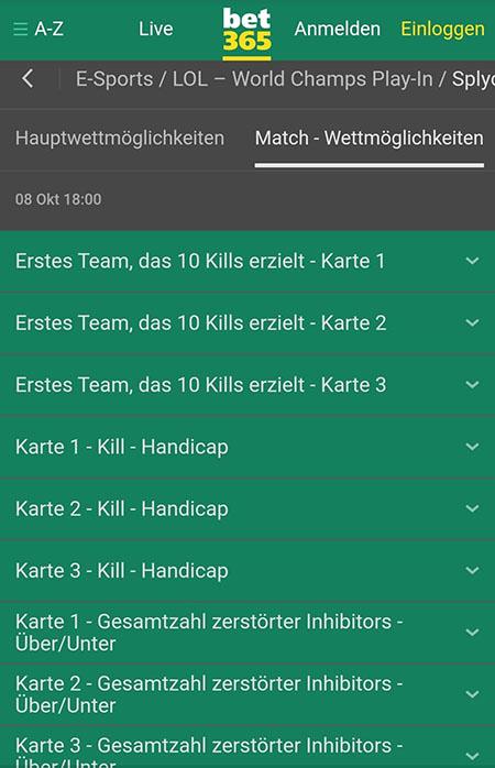 Bet365 esports Wetten