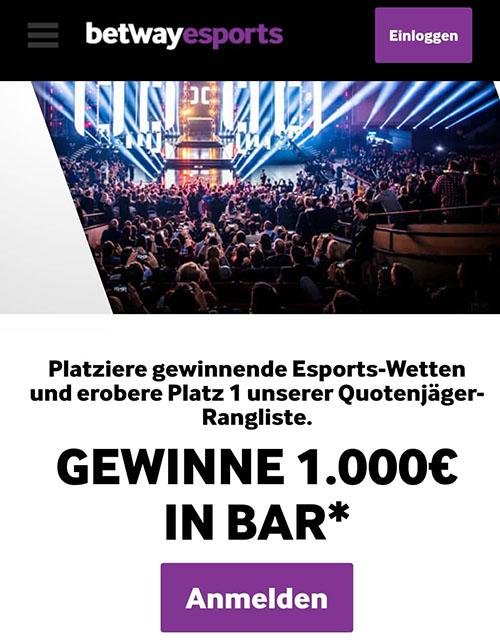 Betway eSports Wetten Bonus Aktionen