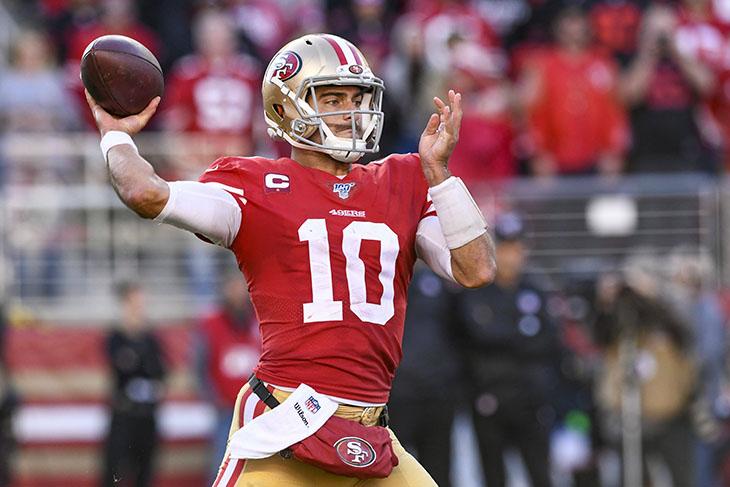 Super Bowl Wetten - Jimmy Garoppolo 49ers Super Bowl Favoriten (© imago images / UPI Photo / David Tulis)